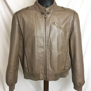 Genuine leather jacket made by Campus